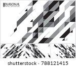 modern diagonal abstract... | Shutterstock .eps vector #788121415