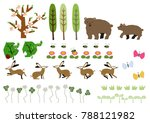 material of bear and spring... | Shutterstock .eps vector #788121982