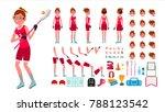 lacrosse player female vector.... | Shutterstock .eps vector #788123542