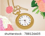 classic and vintage clock | Shutterstock . vector #788126605