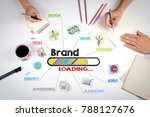 brand concept. the meeting at... | Shutterstock . vector #788127676