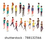 isometric 3d people. young... | Shutterstock . vector #788132566