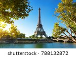 seine in paris with eiffel... | Shutterstock . vector #788132872