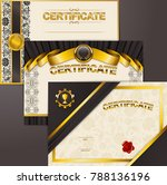 set of elegant templates of...   Shutterstock .eps vector #788136196