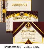 set of elegant templates of...   Shutterstock .eps vector #788136202