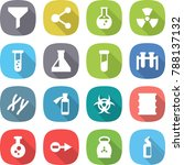 flat vector icon set   funnel... | Shutterstock .eps vector #788137132