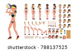 volleyball player. beach... | Shutterstock . vector #788137525