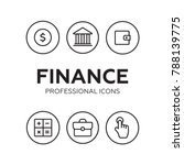 finance thin icons. finance...   Shutterstock .eps vector #788139775