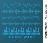 sound waves concept. sound... | Shutterstock .eps vector #788139856
