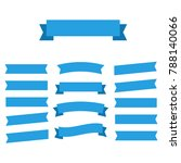 flat vector ribbons banners... | Shutterstock .eps vector #788140066