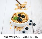 homemade  granola and... | Shutterstock . vector #788142016