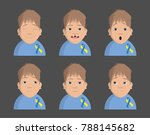 world down syndrome day. kids.  | Shutterstock .eps vector #788145682