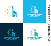 physiotherapy and chiropractic... | Shutterstock .eps vector #788150662