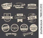 collection labels retro vintage ... | Shutterstock .eps vector #788151352