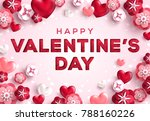 saint valentines day greeting... | Shutterstock .eps vector #788160226