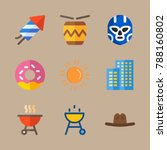 icon set about united states... | Shutterstock .eps vector #788160802
