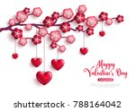 happy saint valentines day... | Shutterstock .eps vector #788164042