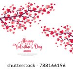 happy saint valentines day... | Shutterstock .eps vector #788166196