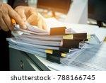 businesswoman hands working on...   Shutterstock . vector #788166745