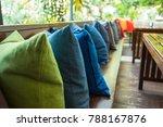 swing in the garden  sitting... | Shutterstock . vector #788167876