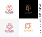 flower logo design vector | Shutterstock .eps vector #788168362
