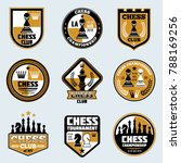 chess club labels. business... | Shutterstock . vector #788169256