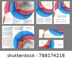 set of color brochure template... | Shutterstock .eps vector #788174218