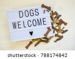 Text Dogs Are Welcome Written...