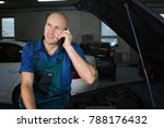 young car service technician he ... | Shutterstock . vector #788176432