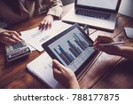 business team working with... | Shutterstock . vector #788177875