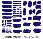 collection of hand drawn blue... | Shutterstock .eps vector #788179342