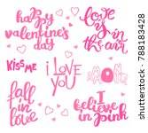 happy valentine's day.... | Shutterstock .eps vector #788183428