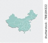 china map   high detailed... | Shutterstock .eps vector #788184322