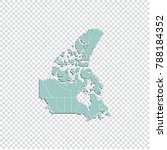 canada map   high detailed... | Shutterstock .eps vector #788184352