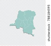 congo dr map   high detailed... | Shutterstock .eps vector #788184595