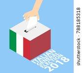 italian general election 2018... | Shutterstock .eps vector #788185318
