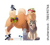 vector animals illustration... | Shutterstock .eps vector #788190766