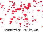 red and pink heart. valentine's ... | Shutterstock . vector #788193985