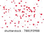 red and pink heart. valentine's ... | Shutterstock . vector #788193988