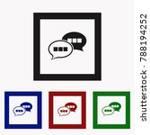 chat icon with dialog clouds... | Shutterstock .eps vector #788194252