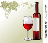 a bottle of red wine  glass and ... | Shutterstock .eps vector #78819499