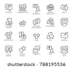 review line icons. big set of...