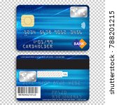 realistic detailed credit card. ... | Shutterstock .eps vector #788201215
