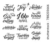 typography hand writing set.... | Shutterstock . vector #788203666