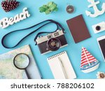 top view travel concept with... | Shutterstock . vector #788206102