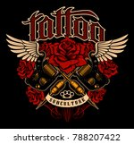 tattoo design. shirt graphic... | Shutterstock .eps vector #788207422