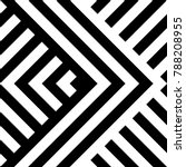 seamless pattern with striped... | Shutterstock .eps vector #788208955