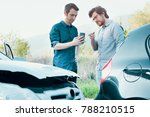 two men trying to find an... | Shutterstock . vector #788210515