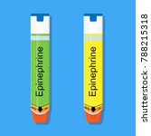 epinephrine medicine medical...   Shutterstock .eps vector #788215318