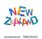 new zealand. inscription of... | Shutterstock .eps vector #788220322